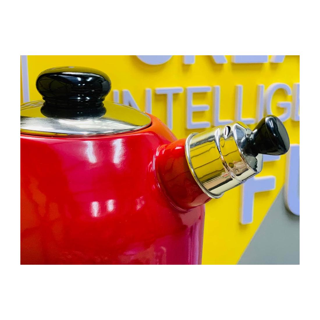 Ấm đun nước huýt sáo Riess 2l đỏ-Thế giới đồ gia dụng HMD