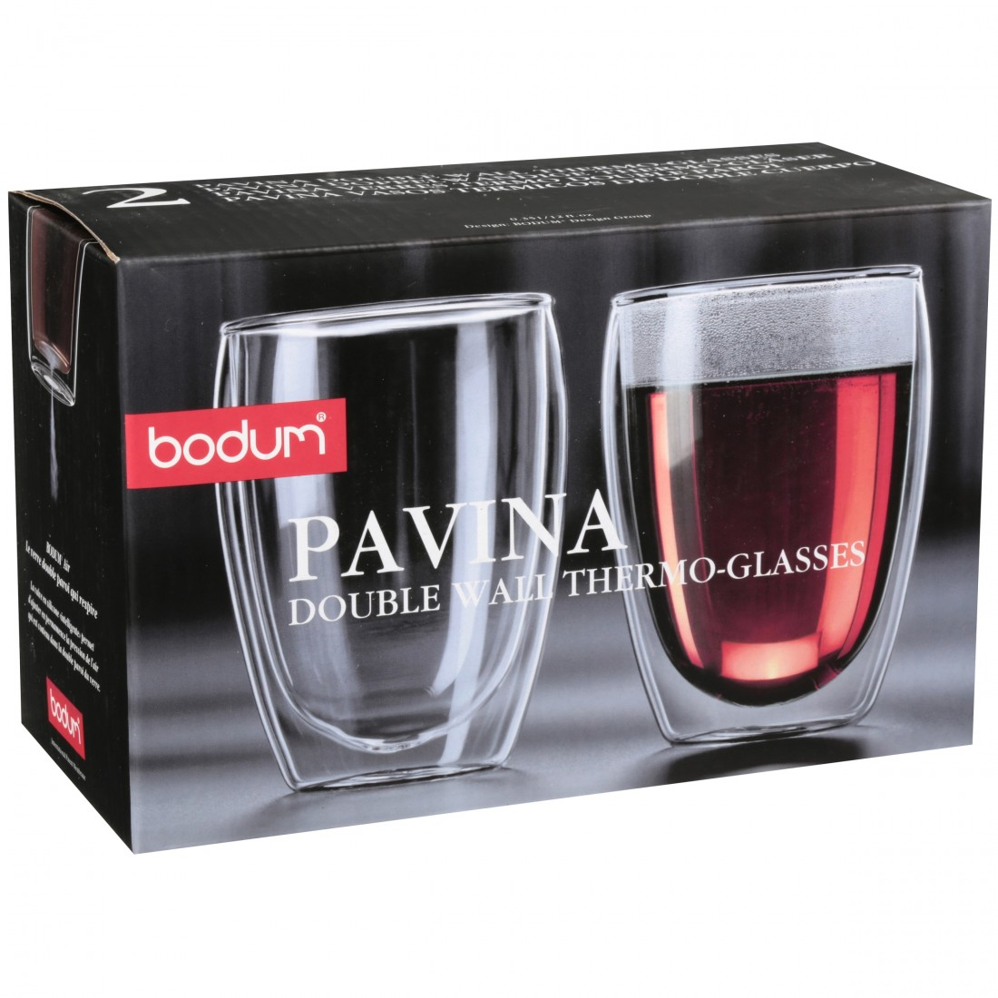 Bộ cốc thủy tinh 2 lớp cách nhiệt Bodum-Pavina (2 chiếc)