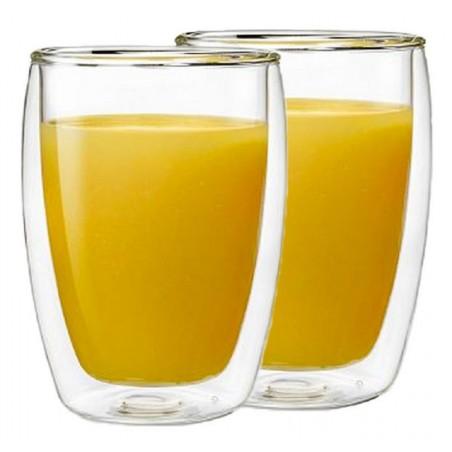 Bộ cốc thủy tinh 2 lớp cách nhiệt Bodum Pavina, 2 món, 350ml