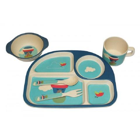 Bộ đồ ăn trẻ em bằng tre DS20075-Thế giới đồ gia dụng HMD
