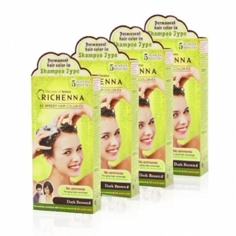 Bộ Sản phẩm nhuộm tóc dạng dầu gội Richenna-Thế giới đồ gia
