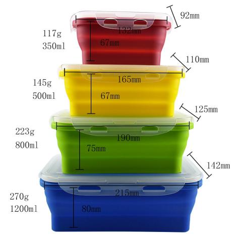 Bộ 4 hộp silicone-Thế giới đồ gia dụng HMD
