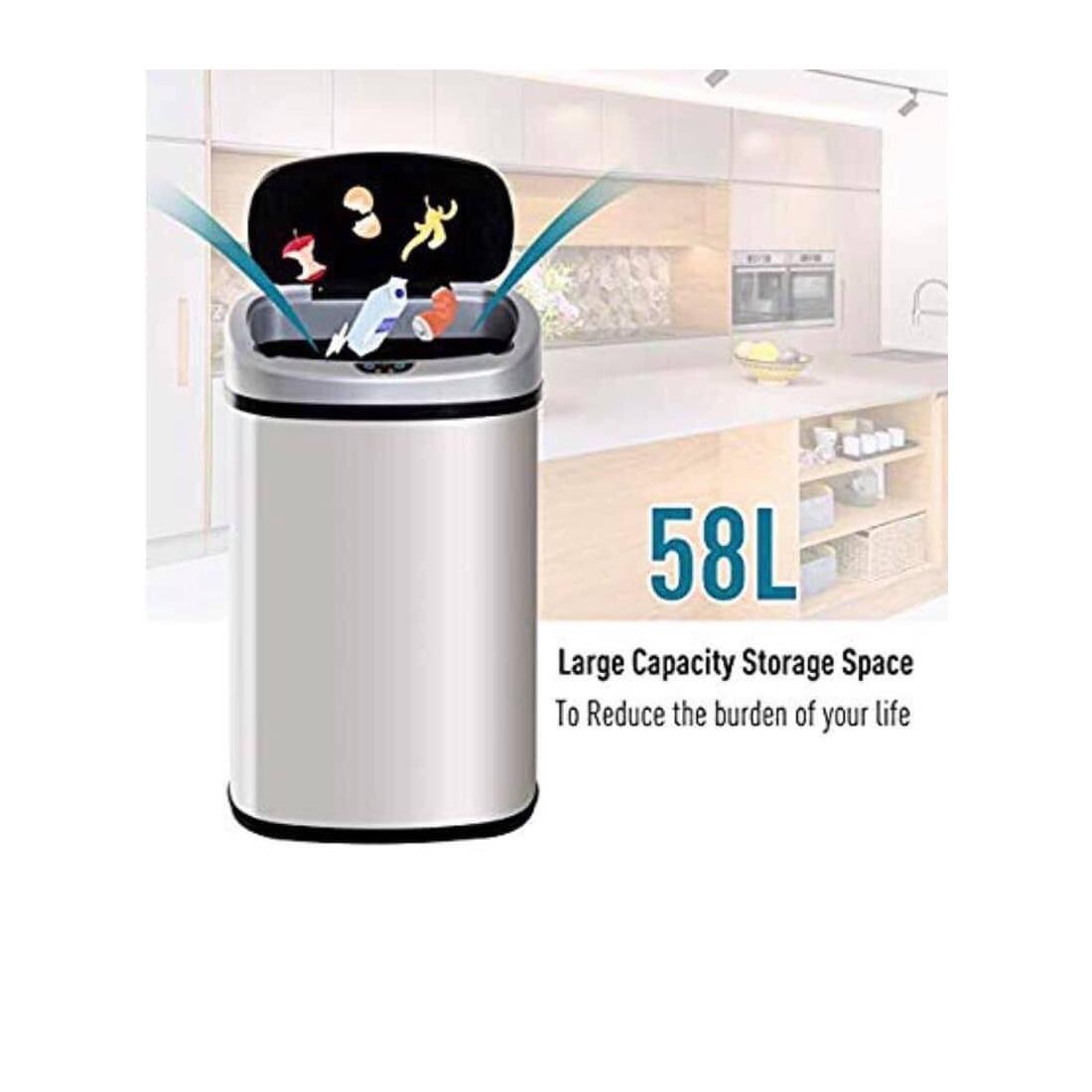 Thùng rác cảm biến thông minh Homcom 58 lít-Thế giới đồ gia