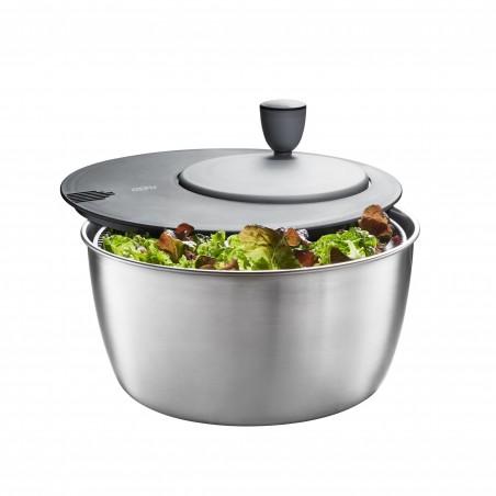 Rổ rửa, quay rau Salad tích hợp bát trộn Inox Gefu 3 in 1-Thế