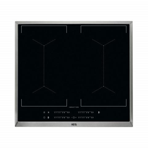 Bếp từ 4 vùng nấu AEG IKE64450XB, vùng nấu cảm ứng, khung thép