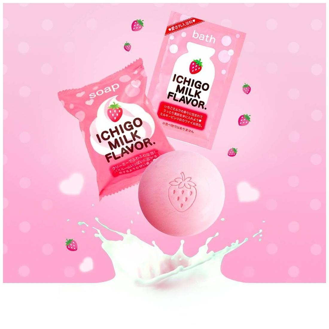 Xà phòng tắm chiết xuất từ sữa,dâu tây 80g nhập khẩu nhật bản,giá rẻ
