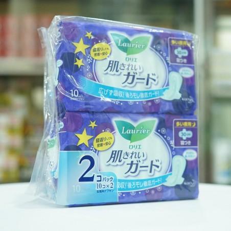 Set 2 gói băng vệ sinh banđêm Laurier (10 miếng/set)-Thế giới