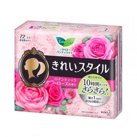 Băng vệ sinh hằng ngày Laurier hương hoa hồng 72 miếng-Thế giới