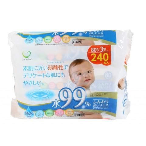 Set 3 gói 80 tờ giấy ướt cho bé (mã mới)-Thế giới đồ gia dụng