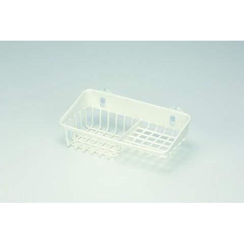 Giá để giẻ rửa bát 2 ngăn dạng lưới màu trắng Inomata-Thế giới