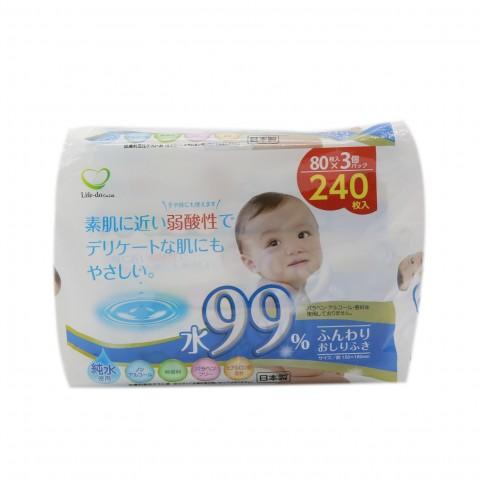 Set 3 gói giấy ướt 80 tờ cho bé-Thế giới đồ gia dụng HMD
