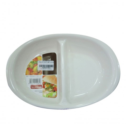 Khay ăn chia 2 ngăn cho bé-Thế giới đồ gia dụng HMD