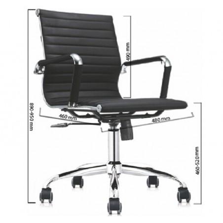 Ghế nhân viên D2530M-Thế giới đồ gia dụng HMD