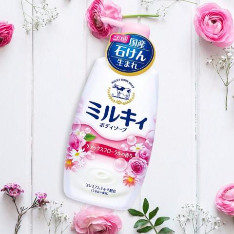 Sữa tắm Milky hương hoa hồng (550ml)-Thế giới đồ gia dụng HMD