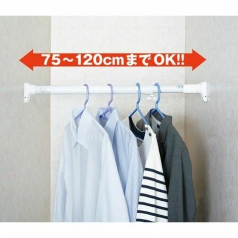 Thanh treo không cần khoan vít Heian (đế vuông, 75cm kéo dài