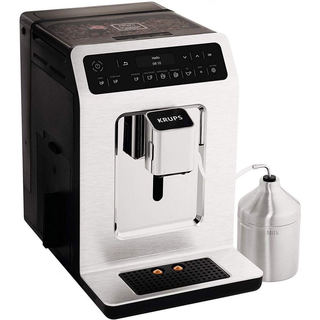 Máy pha cafe Krups EA891C, làm sạch tự động, chức năng 2 ly