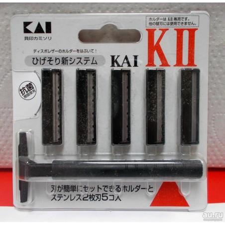 Set dao cạo 2 lưỡi kép KAI (1 thân, 5 lưỡi)