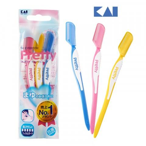 Set 3 dao cạo lông mày Pretty KAI-Thế giới đồ gia dụng HMD