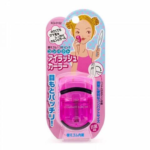 Uốn mi cong thân nhựa KAI màu hồng (mẫu mới)-Thế giới đồ gia
