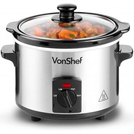 Nồi nấu chậm VonShef 13/337, dung tích 1,5L