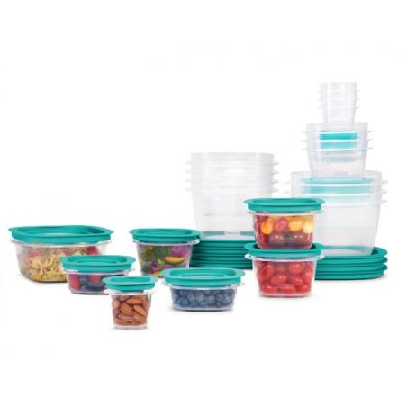 Hộp đựng thực phẩm,thức ăn đa năng Rubbermaid loại nắp xanh  (21 hộp)