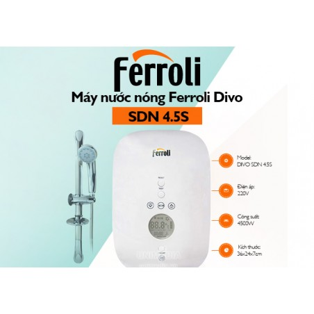 Máy nước nóng trực tiếp Ferroli DIVO SDN 4.5 kW-Thế giới đồ gia