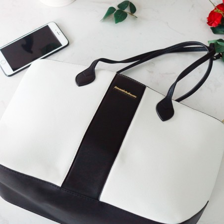 Túi xách Samantha & Chouette Trắng Đen size L