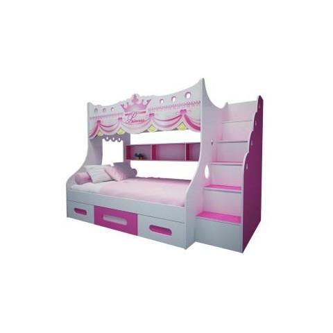 Giường tầng trẻ em công chúa-Thế giới đồ gia dụng HMD
