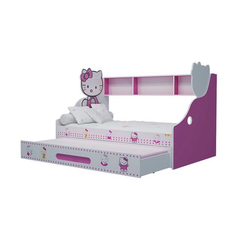 Giường tầng lùn Hello Kitty-Thế giới đồ gia dụng HMD