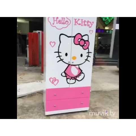 Tủ quần áo trẻ em Hello Kitty-Thế giới đồ gia dụng HMD