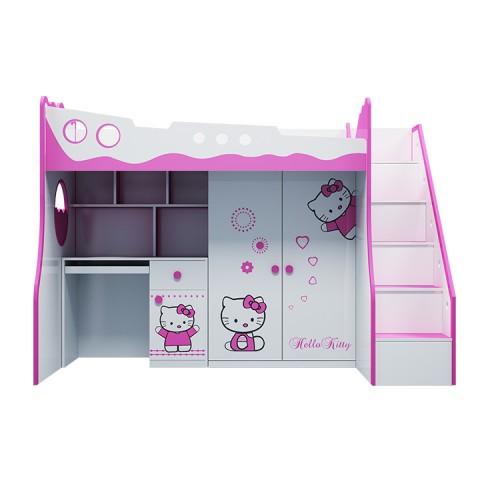 Giường tầng trẻ em 3 trong 1 hello kitty-Thế giới đồ gia