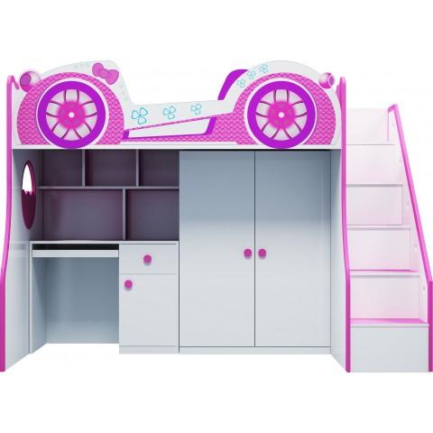 Giường tầng trẻ em 3 trong 1 funny car-Thế giới đồ gia dụng
