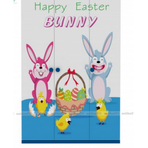 Tủ quần áo trẻ em Bunny-Thế giới đồ gia dụng HMD