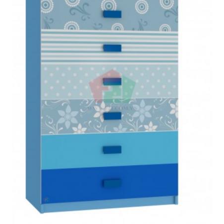Tủ Cabinet hoa văn xanh