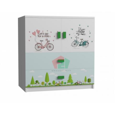 Tủ cabinet xe đạp-Thế giới đồ gia dụng HMD
