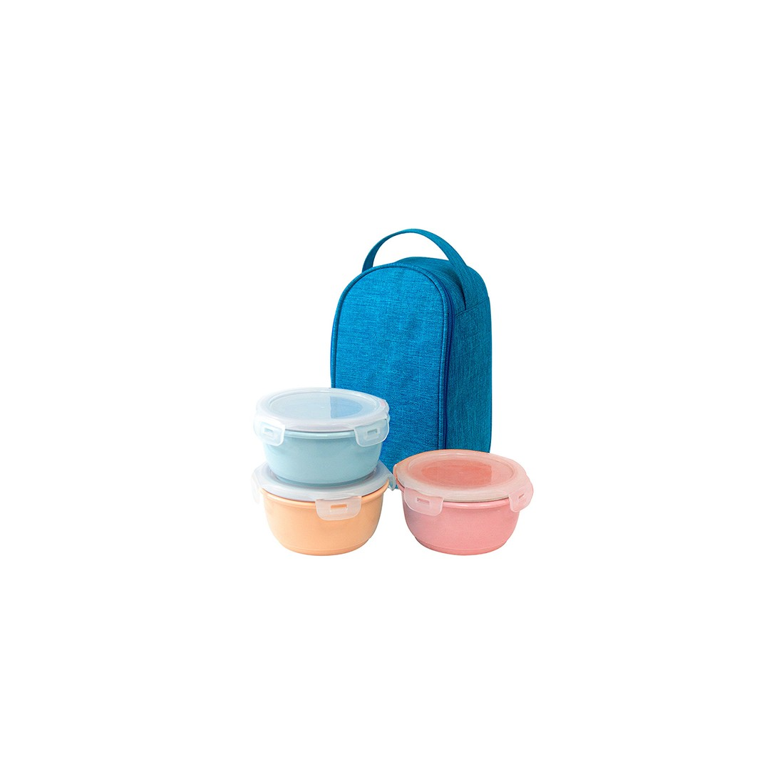 Ceramic Lunch Box Pastel 3EA x 400ml-Thế giới đồ gia dụng HMD