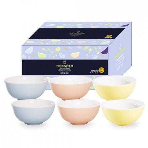 Bộ quà tặng 6 chén cơm màu Pastel-Thế giới đồ gia dụng HMD