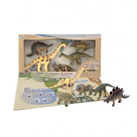 Đồ chơi mô hình Wenno 5 khủng long Herbivorous-Thế giới đồ gia
