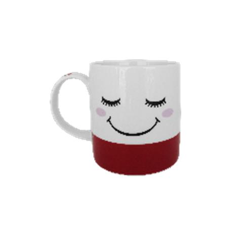 Ly sứ họa tiết mặt cười đỏ 300 ml-Thế giới đồ gia dụng HMD
